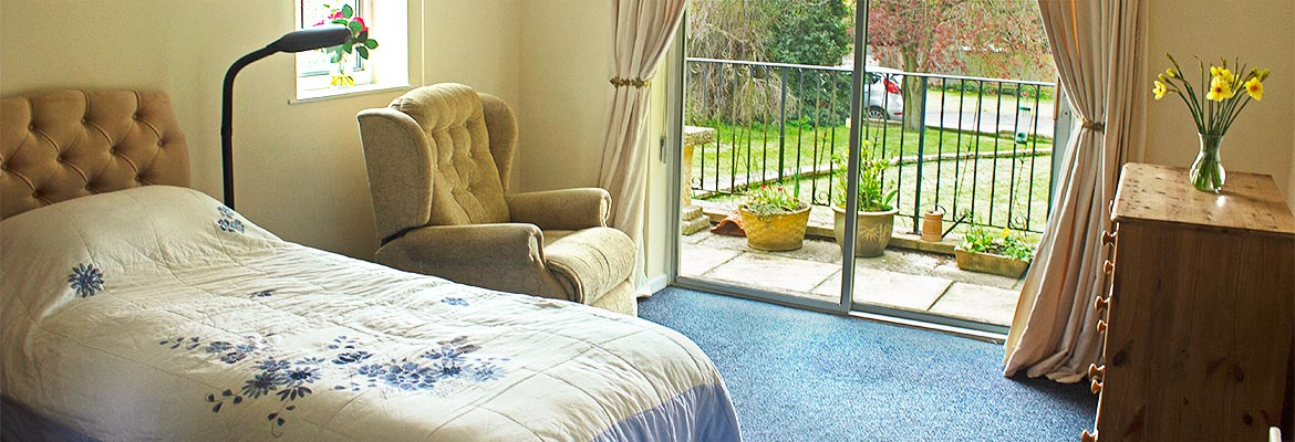 bedroom at Garden House residential care home