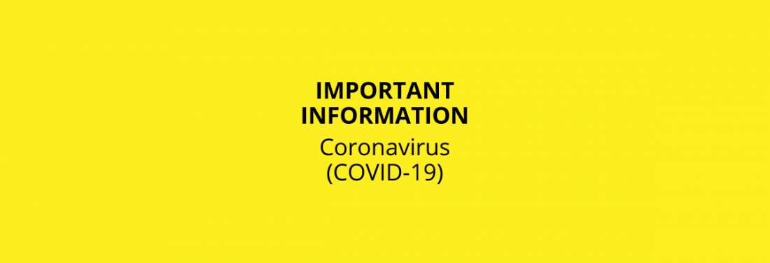 Coronavirus Information Header Text
