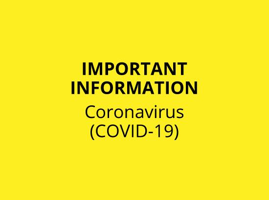 Coronavirus Information Header Text